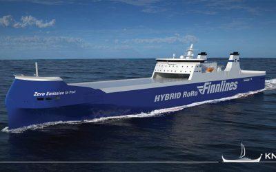 Première vue des futurs rouliers hybrides de Finnlines (source Mer et Marine)