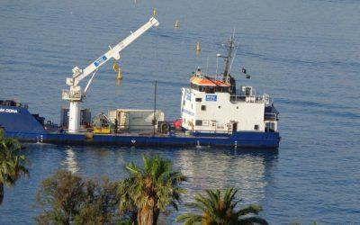 Photos du DORA : un  bateau à l'angle sud de la Promenade Orosco le 27 juin 2019
