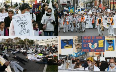 La Marche pour le climat cible les ferries (source Var Matin)