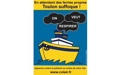 """Track Colair """"En attendant des ferries propres Toulon suffoque !"""""""