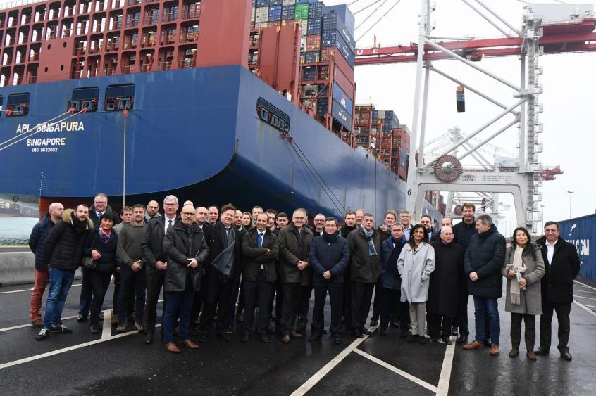 Dunkerque : Le courant quai est inauguré au terminal des Flandres (source Mer et Marine)